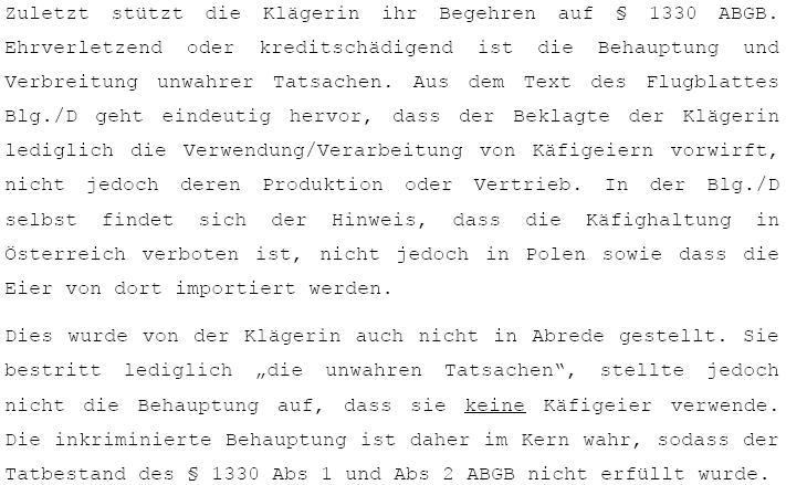 Klage der 3 Goldenen Kugeln gegen kritisches VGT-Flugblatt ...