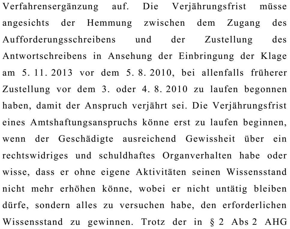 OGHBeschlussKlageSchaden06