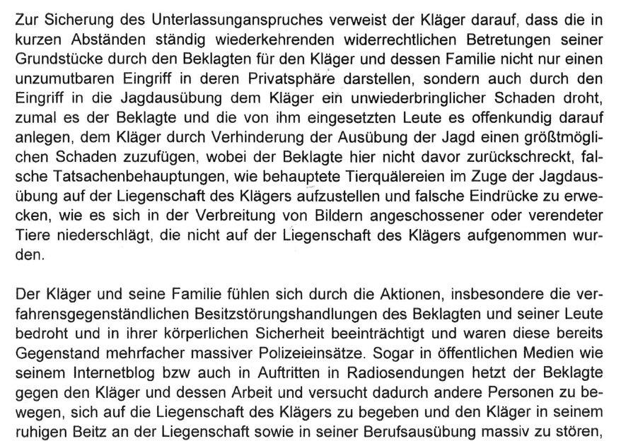 Alfons Mensdorff-Pouilly klagt mich wegen Besitzstörung, samt ...