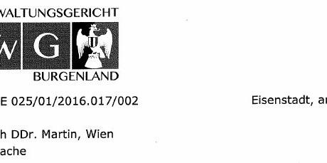Landesverwaltungsgericht weist BH Güssing in die Schranken: Strafe gegen mich aufgehoben