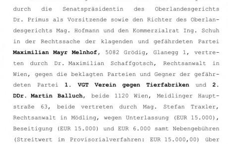 Oberlandesgericht Wien bestätigt Legitimität von VGT-Aktionen in Gatterjagdkampagne