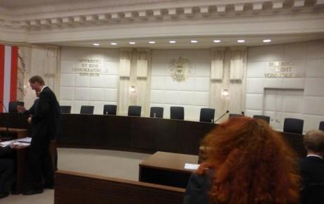 Ein Antrag auf Jagdfreistellung vor dem Verfassungsgerichtshof in öffentlicher Sitzung
