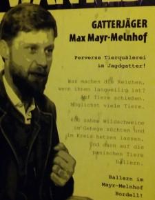 Privatanklage von Max Mayr-Melnhof gegen den VGT