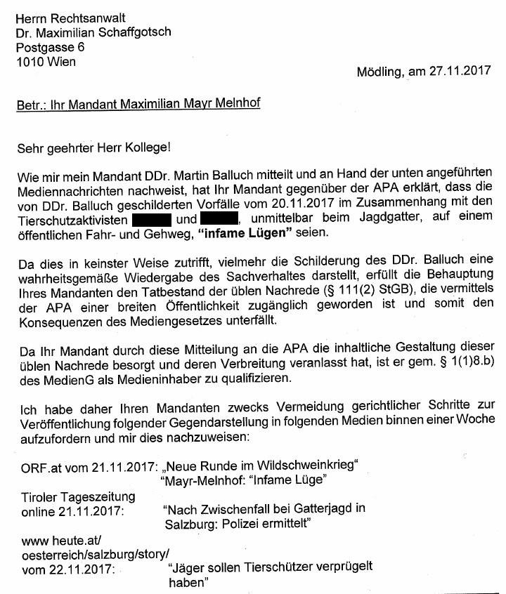 20171126DrohbriefKlageMMMAngriff1geschwärzt