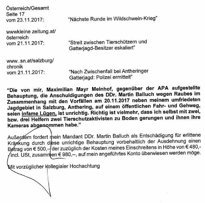 20171126DrohbriefKlageMMMAngriff2