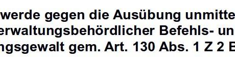 2 Maßnahmenbeschwerden gegen Max Mayr-Melnhof beim Landesverwaltungsgericht Salzburg